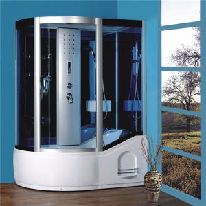 Bathroom Design Sliding Round Black Bath Shower Cabin for Sale pictures & photos