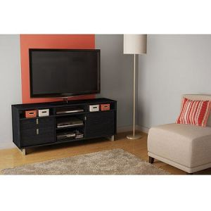 "South Shore Uber Black Oak TV Stand for Tvs up to 60"" pictures & photos"