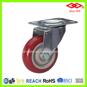 100mm Swivel Plate PU Wheel Industrial Caster Wheel (P103-36F100X30) pictures & photos