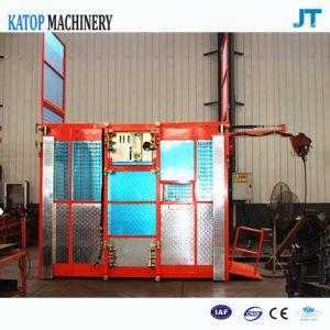 Sc200/200 Building Lifter 2t Load Double Cage Construction Hoist for Sale pictures & photos