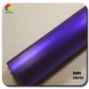 Tsautop Brushed Matte Chrome Purple Vinyl Car Wrap pictures & photos
