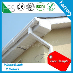Kenya Hot Sale Rainwater Gutter PVC Fitting Rain Gutter Downspout pictures & photos