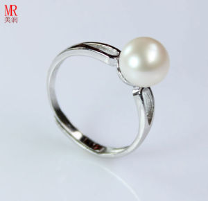 925 Solid Silver Wedding Nature Pearl Ring (ER1603) pictures & photos