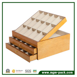 Luxury Wooden Belt Fastener Storage Box with Large Space pictures & photos