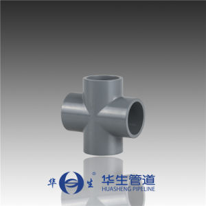 Huasheng Plastic Dn125-300 CPVC DIN Standard Cross pictures & photos