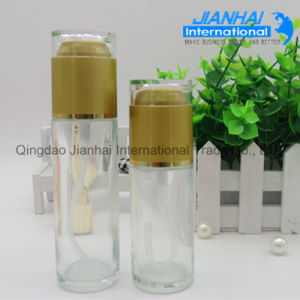 Custom Glass Perfume Transparent Bottle with Metal Cap pictures & photos
