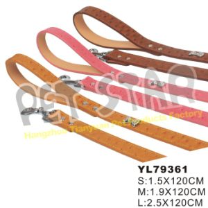 PU Luxury Dog Lead with Diamond, Color Assorted pictures & photos