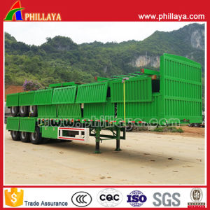 40-60 Tons Cargo Transport 3 Axles Side Wall Semi Trailer pictures & photos