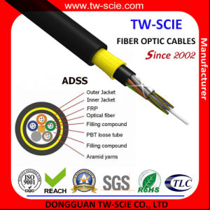 72 Core ADSS Long Span Aramid Yarn Optical Fiber Cable pictures & photos