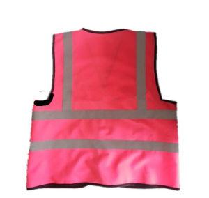 Wholesale Cheap Protect Roadway Unisex Hi-Vis Pink Safety Reflective Vest pictures & photos