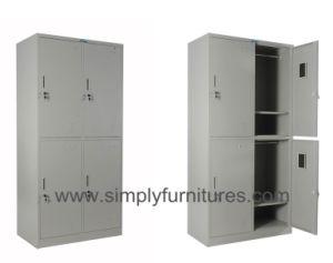 4 Doors Steel Armoire Wardrobe pictures & photos