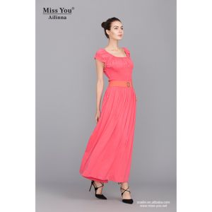 Miss You Ailinna Hot Sale 780055 Long Beach Dress Casual Dress pictures & photos