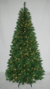 Realist Artificial Christmas Tree with String light Multi Color LED Decoration (AT1023) pictures & photos