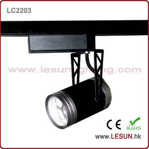 3*1W Black LED Track Light for Commercial Lighting (LC2203) pictures & photos