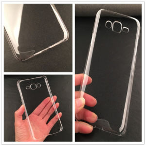 Crystal Plain Mobile Phone Cover for Samsung J7 Blank Case, Custom Design Optional pictures & photos