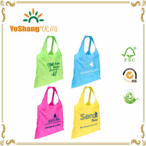 Custom Printing Pouch Nylon Shopping Bags Portable Folding Shopping Bag pictures & photos