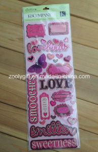 Pink Girl Scrapbook Handmade Paper Craft Adhesive 3D Stickers pictures & photos
