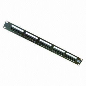 Voice 25 Ports Patch Panel, Fits 19-Inch Network Cabinet pictures & photos