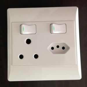 South Africa 16A+10A Electric Switch Socket pictures & photos
