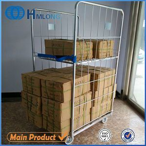 Logistic Metal Folding Wire Mesh Interlocking Roll Cage pictures & photos