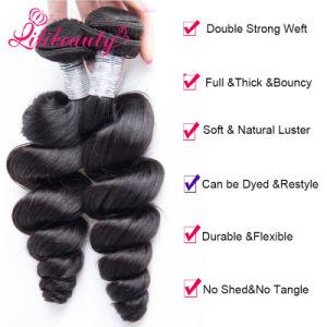 Wholesale Mongolian Natural Black Loose Wave Virgin Human Hair pictures & photos