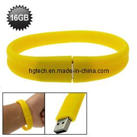 Hot Free Logo USB Wrist Band USB Flash Memory USB Bracelet (HBU-016)