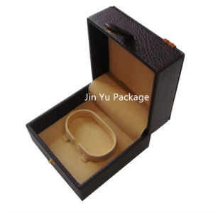 Sequare Chocolate Color PU Leather Jewelry Set Packing Box with Embossed Logo pictures & photos