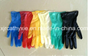 Powdered/Powder Free Disposable Vinyl Gloves with Different Color