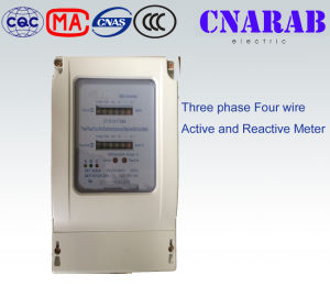 Three-Phase Four-Wire Active and Reactive Energy Meter pictures & photos