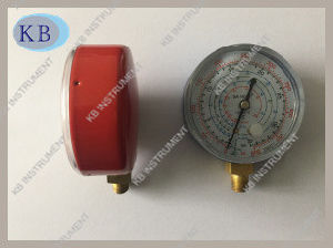 63mm steel Case Refrigerant Compound Gauge Manometer pictures & photos