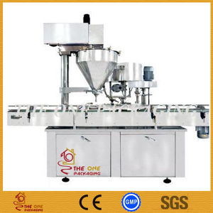 Automatic in- Line with Hopper Powder Filling and Capping Machine pictures & photos