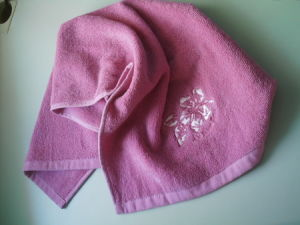 Customized 21s 100% Cotton Terry Embroidered Face Towels Cu-353