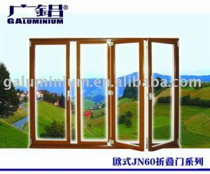 China Top Brand Aluminium Glass Doors with Powdercoat Colorful pictures & photos
