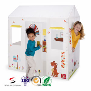 Munfacture Wholesale Corrugated PP Foldable Kids Playhouse pictures & photos