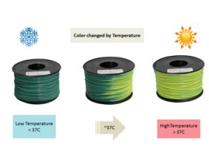 ABS 1.75mm Color Changed 3D Printing Filament pictures & photos