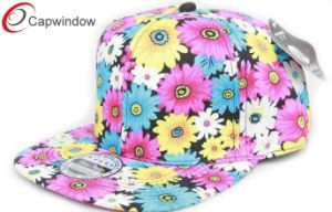 Flowers Printing Custom Hip Hop Baseball Cap pictures & photos