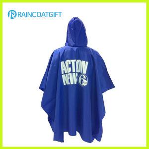 Custom Printed Blue PVC Rain Poncho pictures & photos