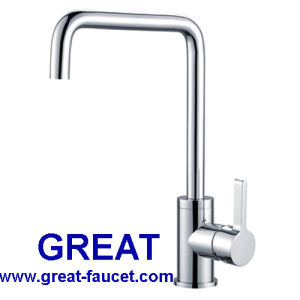 Solid Brass Single Lever Kitchen Sink Faucet pictures & photos