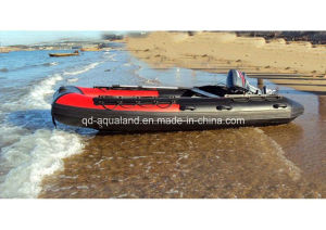 Aqualand 16feet 4.7m Hypalon Rubber Boat/Semi-Rigid Inflatable Rescue Boat (RIB470A) pictures & photos