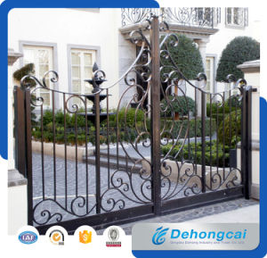 Chinese Manufacturer of Beautiful Residential Practical Wrought Iron Gate pictures & photos