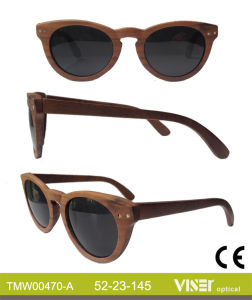 Fashion Wooden Sunglasees with High Quality (470-A) pictures & photos