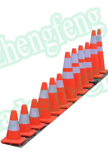 "12"" 18"" 28"" 36"" Orange Color Traffic Safety Cones with Reflective Collars"