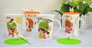 Lovely Ceramic Mugs Cups with Kiwi Girls