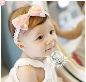 Blue, Purple, White, Pink 4 Colors Candy-Colored Bow Children Korean Hairband, Baby Hair Accessories