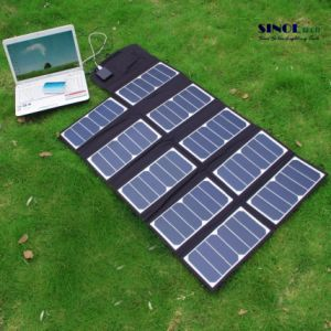 65W 2-Port DC USB Solar Charger with High-Efficiency Portable Foldable Solar Panel Powermaxiq Technology for iPhone, iPad, iPod (FSC-65A) pictures & photos