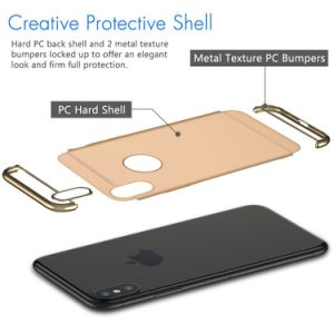 """Gold Matte Finish Metallic Painting Slim Protective Shockproof Hard Shell Skin Cover Case for Apple iPhone X 5.8"""" pictures & photos"""