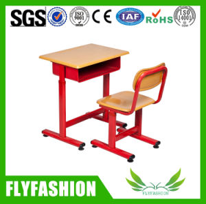 Cheap Wooden Single School Desk and Chair Classroom Furniture (SF-41S) pictures & photos