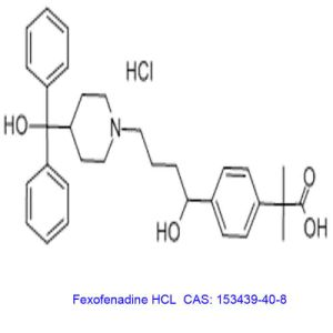 Antihistaminic Intermidiates Powder Fexofenadine HCl to Treat Seasonal Allergic Rhinitis pictures & photos