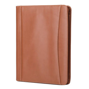 Office Supplier PU Leather Document File Folder with Calculator pictures & photos