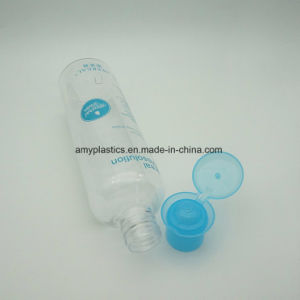 300ml Pet Clear Liquid Bottle with Particular Blue Flip Cap pictures & photos